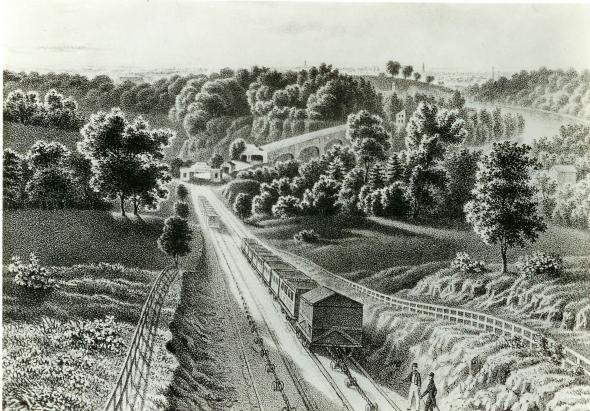 Bestand:View of the Inclined Plan near Philadelphia 1838.jpg